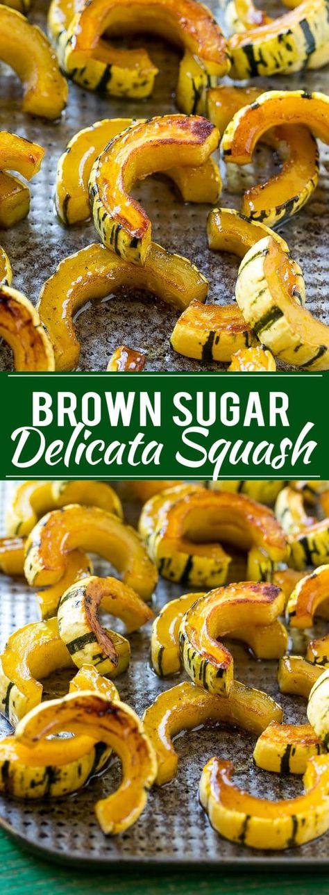 Brown Sugar Delicata Squash Recipe