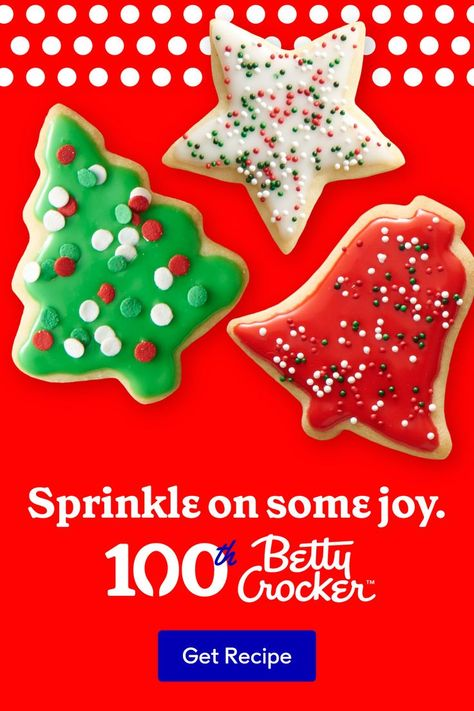Sprinkles  Frosting  Joy. Oh my! Bake up some Classic Sugar Cookie trees everyone will be happy to gather 'round. 