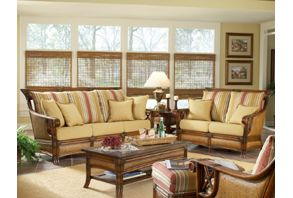 Pacifica Living Room Set 5 Pc Model 4300 Set With Choice Of Cushions Made In The Usa American Rattan Tropical Style Pacifica Living Room Set In 2021 Sunroom Furniture Indoor Rattan Furniture Indoor Furniture