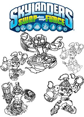 Skylanders Printable Coloring Pages Skylanders Birthday Party Skylanders Birthday Skylanders Party