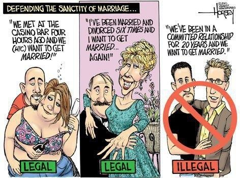 same sex marriage political cartoon Evangelicals Are Changing Their Minds on Gay Marriage.