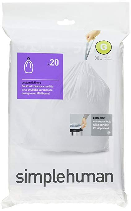Simplehuman Bulk Value Pack Code G Custom Fit Trash Can Liner 30 L 8 Gallon 200 Pack Review Simplehuman Custom Fit Gallon