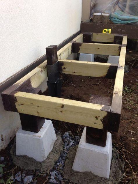木製物置小屋の作り方 1 土台編 物置小屋の作り方 物置小屋 Diy