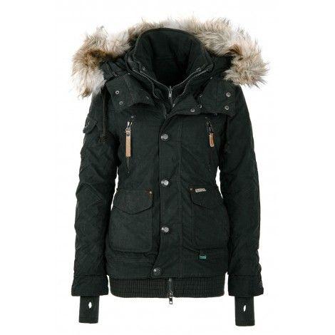 Geaca de Iarna Dama Khujo Gri inchis Margret   Fall fashion