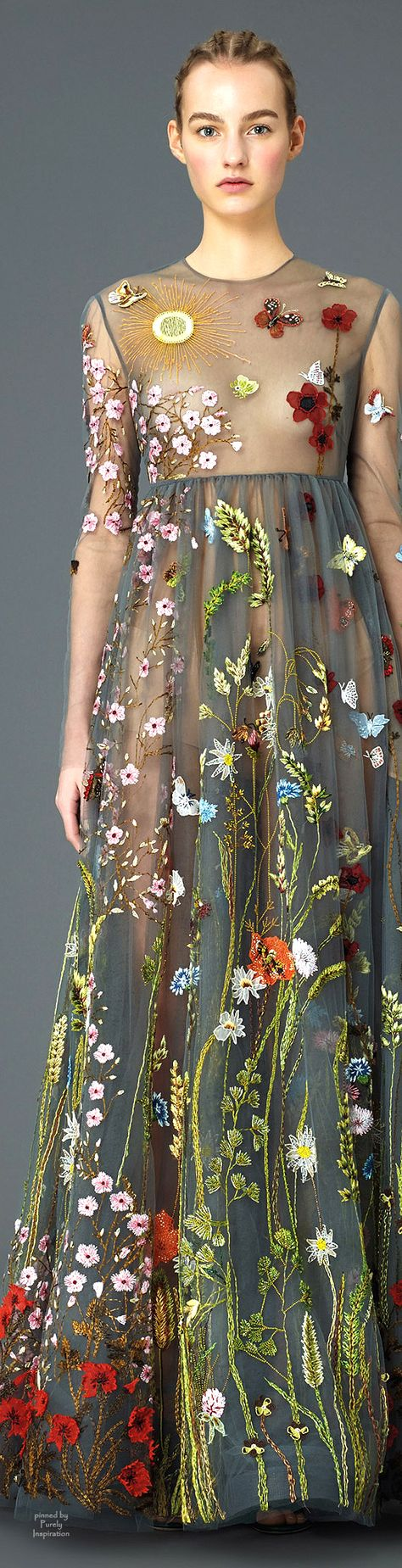 Beautiful embroidery patterns; Valentino PF2015 | Purely Inspiration
