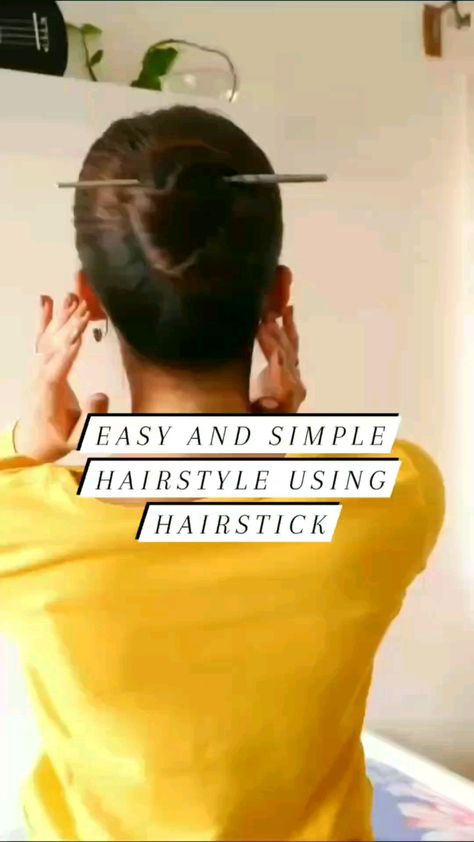 Quick and Easy *17 SECONDS* Hairstyle using Hairstick! - Follow for more on instagram @tahlia_suraj