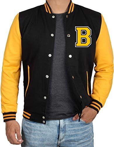 Enjoy Exclusive For Decrum Black Yellow Letterman Jacket Men High School Baseball Varsity Jacket Mens Online Trendyclothingonline Varsity Jacket Men Mens Jackets Baseball Varsity Jacket