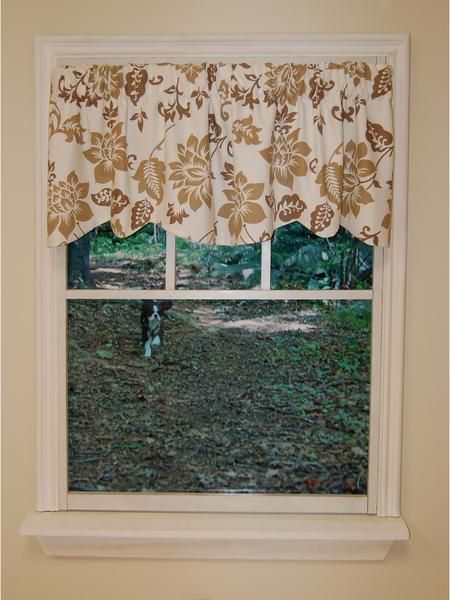Jacobean Abstract Rod Pocket Valance Marburn Curtains With