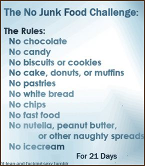 No_Junk_Food_Challenge (love how I pin this after going on a junk food pinning spree)
