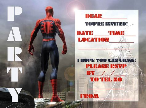 Spiderman Birthday Invitations Online