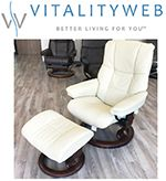 Stressless Mayfair Recliner Chair And Ottoman Clearance Sale