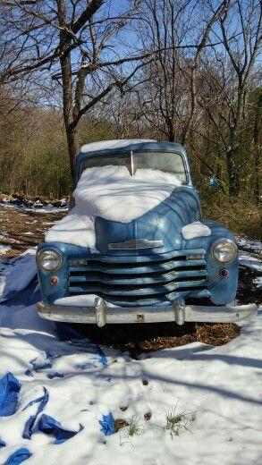 Great Chevy Pickup Surviving In The Cold Found In Van Buren