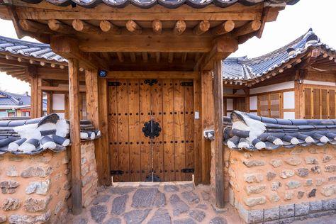 Jeonju Hanok village with over 800 traditional Korean houses remaining in central Jeonju.