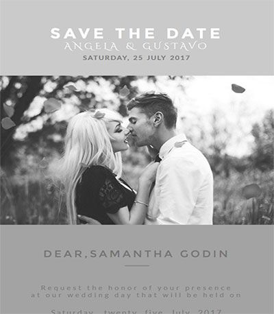 Wedding Invitation is a wonderful HTML Email Template - professional invitation template