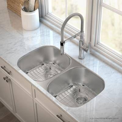 Dex Series Single Bowl 33 X 19 Undermount Kitchen Sink With Drain Assure Waterway Undermount Kitchen Sinks Single Bowl Kitchen Sink Sink