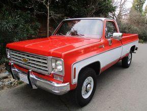 Well Optioned Sharp Looking 1975 Chevrolet K20 4x4 350 4 Speed Classic Trucks Custom Trucks Chevy Trucks
