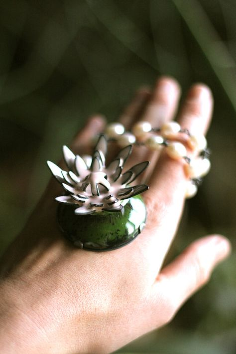 Juniper Flower Necklace by thenoisyplume on Etsy, $560.00