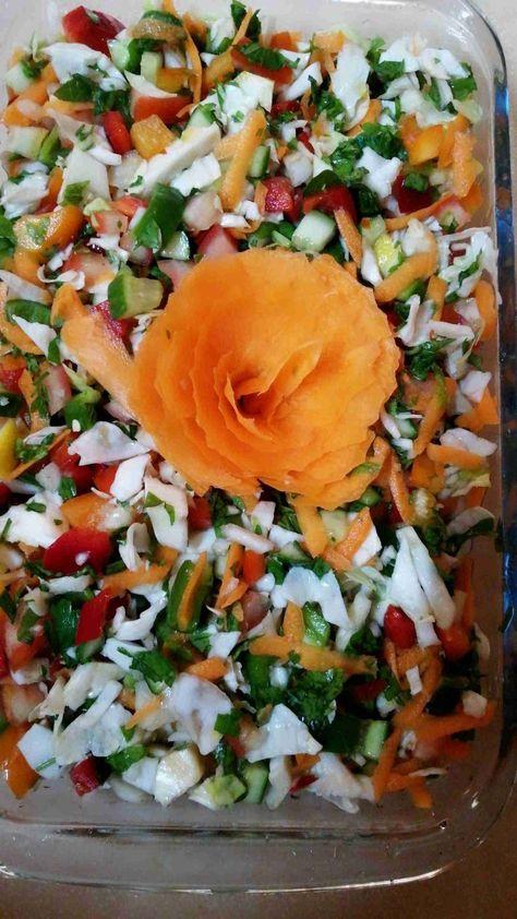 طريقة عمل سلطة الملفوف الأبيض مع الخضره زاكي Cooking Recipes Salad Cooking