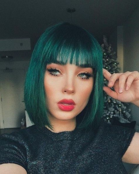 80+ Most Stunning Green Color Hairstyles Inspirational Art You Should Try - Page 51 of 89 - #color #green #hairstyles #inspirational #should #stunning - #new