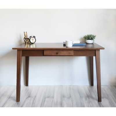 Canora Grey Modbury Desk Size 29 75 H X 47 W X 23 75 D Solid Wood Desk Wood Writing Desk Writing Desk With Drawers Solid wood writing desk