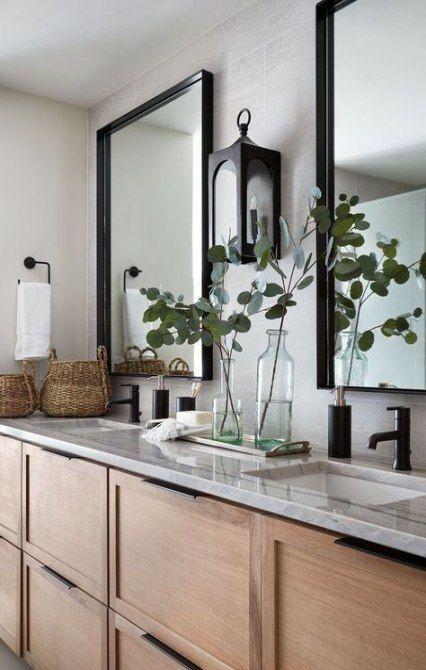 Bathroom Mirror Makeover Modern Farmhouse 50 Ideas Farmhouse Bathroom Black Bathroom Mirrors Best Bathroom Designs Top Bathroom Design