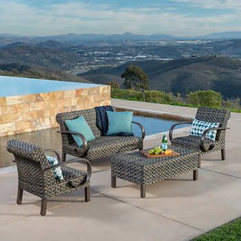 Westlake 4 Piece Deep Seating Set By Mission Hills Deep Seating Patio Outdoor Seating Areas
