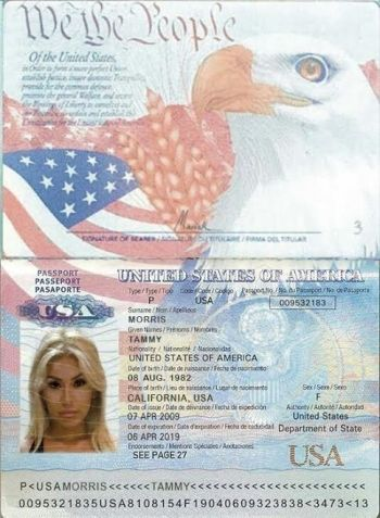 Scammer Tammy Morris Passport Template Passport Online Passport