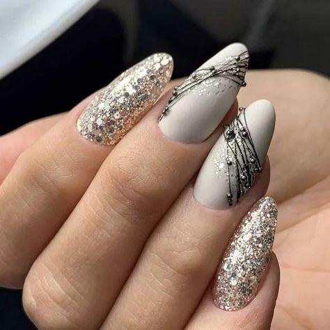 110 light color christmas snowflake coffin nails