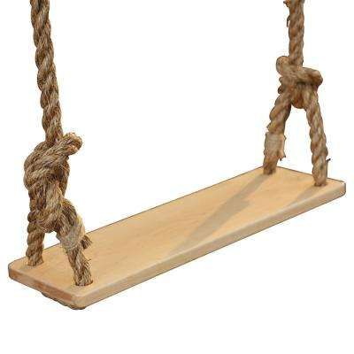 Classic Specialty Swing Hard Maple Deck With Rope Rope Crafts Wood Swing Adventure Park