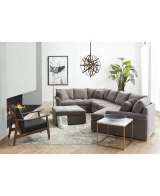 Furniture Wedport 3 Pc Fabric Modular Sectional Sofa With Cuddler Created For Macy S Reviews Furniture Macy S In 2020 Fabric Sectional Sofas Sectional Sofa With Chaise Modular Sectional Sofa