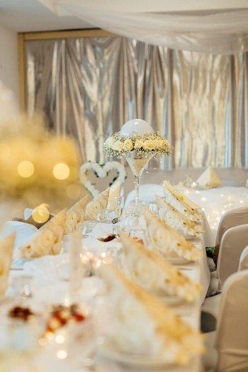 Deko Zur Goldenen Hochzeit Goldene Hochzeit Schone Deko Und