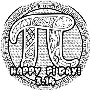 Happy Pi Day Coloring Page M91 In 2020 Free Printable Coloring