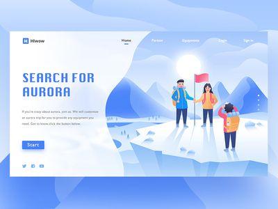 Search For Aurora Web Page In 2020 Quiz Design Flat Design