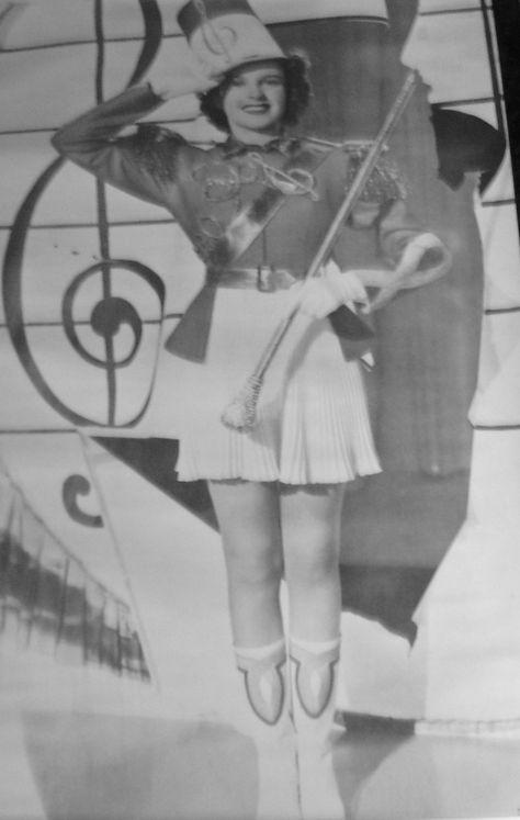 Vintage majorette baton, circa 1960