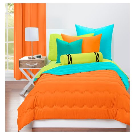 Crayola Bold Orange Comforter Sets Full Queen Blue