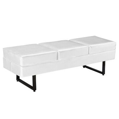 Symple Stuff Spradley Waiting Room Three Seat Bench Seat Colour White Upholstered Storage Bench Leather Storage Bench Upholstered Bench