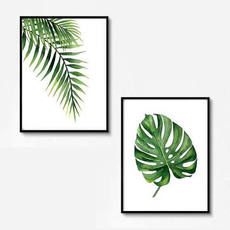 Tropische Blatt Dekor Grune Outdoor Dekor Exotische Grune Kunst