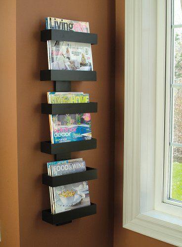 Amazon.com - Modern Magazine Rack Wall mounted | Magazine racks | Pinterest  | Magazine rack wall, Modern magazine racks and Wall mount