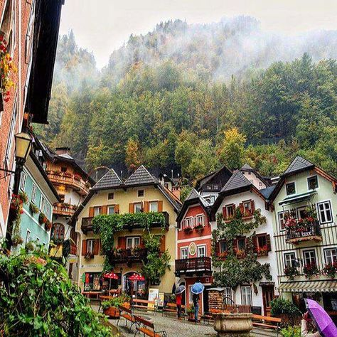 Hallstatt - Upper Austria, Austria - this looks beautiful- exactly as I imagine Austria to be like Places Around The World, Oh The Places You'll Go, Places To Travel, Travel Destinations, Places To Visit, Around The Worlds, Austria Destinations, Travel Things, Travel Europe