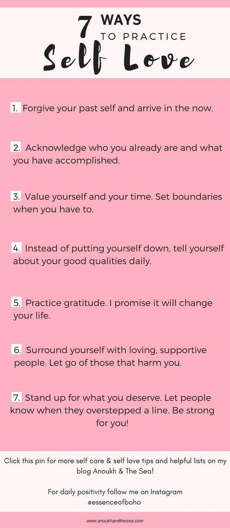 The 7 Steps to Self Love - #howtobe #Love #Steps