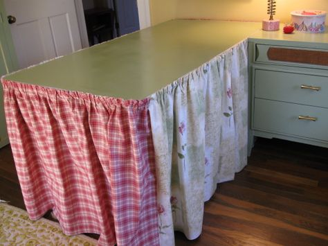 More of Libbys Sewing Room Redo-Storage Solutions, Here are ways I created more storage space in this small room., I made a skirt for the wo...