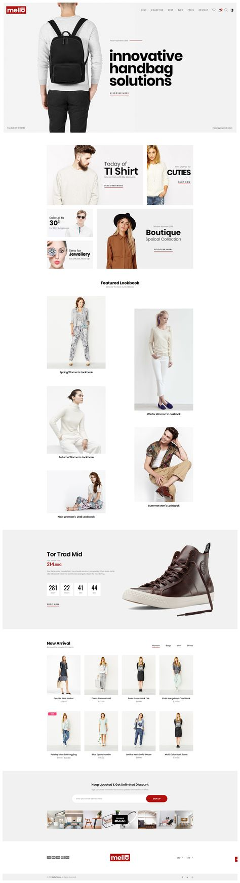 Mella - Minimalist Prestashop Theme #Ad #Minimalist, #Mella, #Theme, #Prestashop