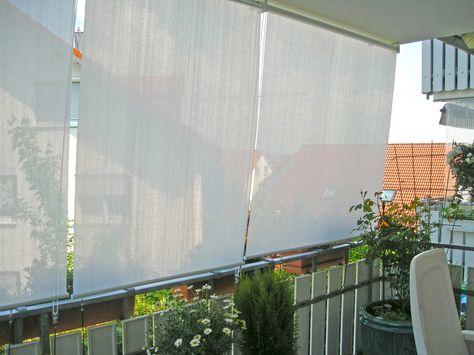 Balkon Loggia Sonnenschutz Wohnen DIY Pinterest Balconies - markisen fur balkon design ideen