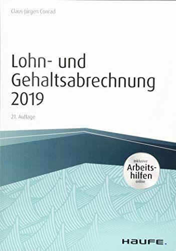 Lohn Und Gehaltsabrechnung 2019 Inkl Arbeitshilfen Online