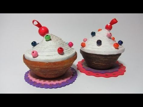 ▶ Reciclaje: Caja pastelito. Cupcakes box. - YouTube