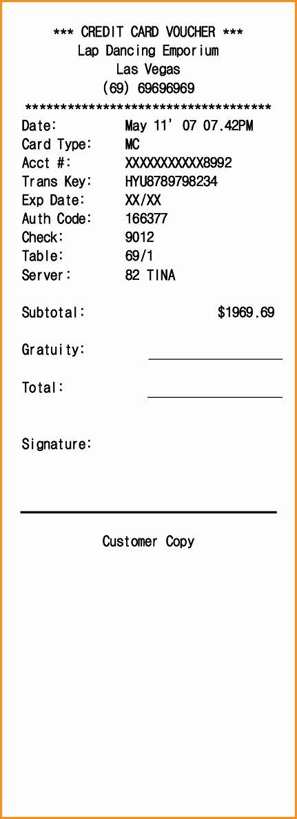 Credit Card Template Maker Inspirational 11 Credit Card Receipt Template Receipt Template Invoice Template Word Free Printable Card Templates