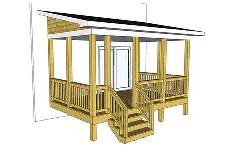 3d View Building A Deck Decks And Porches Deck Plans Diy
