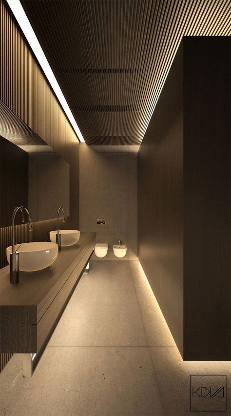 3 intérieurs minimalistes et monochromatiques avec un éclairage moderne