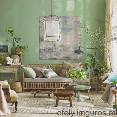 Discret Mur Couleur Vert Retro Home Decor Home Decor Retro Home
