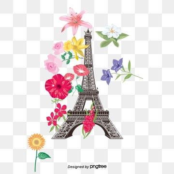 Vector Torre Eiffel Torre Eiffel Patron De Paris Hermoso Png Y Psd Para Descargar Gratis Pngtree Eiffel Tower Eiffel Tower Illustration Watercolor Flower Background
